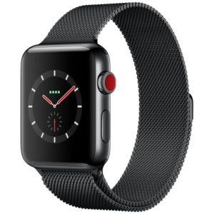 GPS+Cellular Space Black -black-milanese-loop