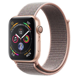 apple watch s4 gold nylon