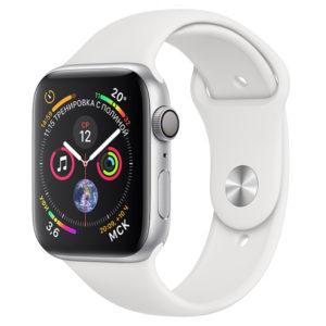 apple watch s4 silver sport